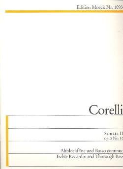 Sonata II G-Dur op. 5 n° 10 - Altblockflöte u. Bc CORELLI laflutedepan