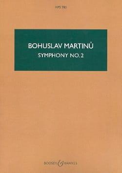 Symphonie n° 2 1943 - Score MARTINU Partition laflutedepan