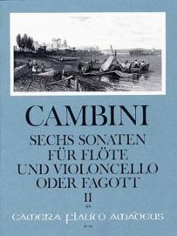 6 Sonates Volume 2 Giuseppe Maria Cambini Partition laflutedepan