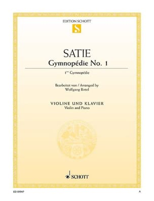 Erik Satie - First Gymnopedia - Partition - di-arezzo.co.uk