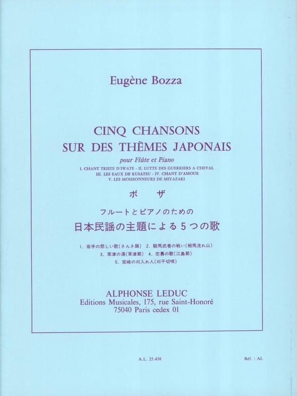 5 Chansons sur des thèmes japonais - Eugène Bozza - laflutedepan.com