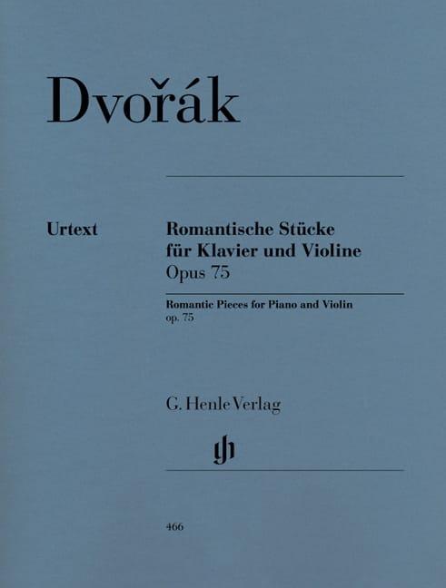 Pièces romantiques op. 75 - DVORAK - Partition - laflutedepan.com