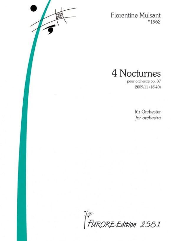 4 Nocturnes op. 37 - Florentine Mulsant - Partition - laflutedepan.com
