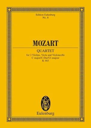Quatuor en Ut Majeur K 465 Dissonances - Conducteur laflutedepan