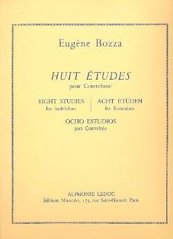 8 Etudes - Contrebasse Eugène Bozza Partition laflutedepan