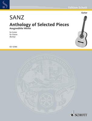 Anthology of selected pieces Gaspar Sanz Partition laflutedepan