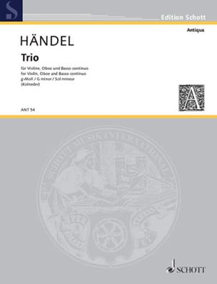 Trio g-moll -Violine Oboe u. Bc - HAENDEL - laflutedepan.com