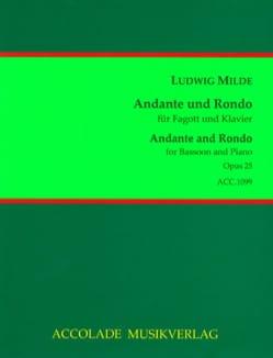 Andante und Rondo op. 25 Ludwig Milde Partition Basson - laflutedepan