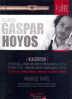 Kaddish - Flûte et Piano RAVEL Partition laflutedepan