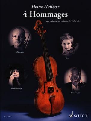 4 Hommages - Violon solo Heinz Holliger Partition laflutedepan