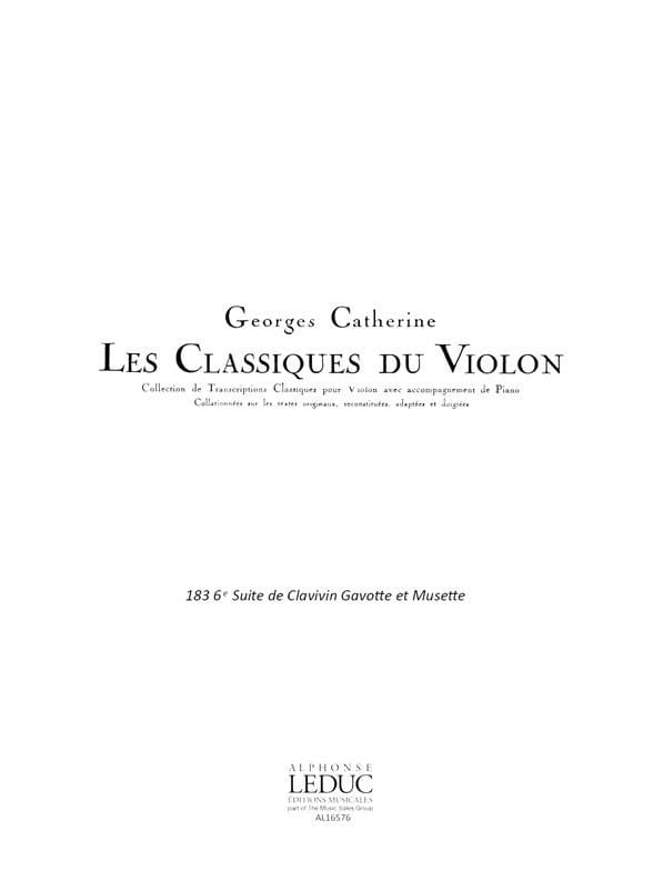 Gavotte et Musette - BACH - Partition - Violon - laflutedepan.com
