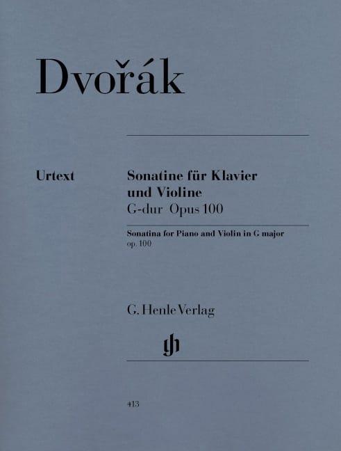 Sonatine pour violon en Sol majeur op. 100 - DVORAK - laflutedepan.com