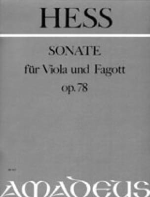 Sonate op. 78 - Viola und Fagott - Willy Hess - laflutedepan.com