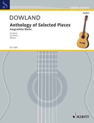 Anthology of Selected Pieces DOWLAND Partition Guitare - laflutedepan