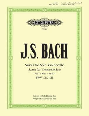 6 Suites Volume 2 - Contrebasse - BACH - Partition - laflutedepan.com