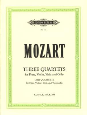 3 Quartette -Flöte Violine Viola Violoncello MOZART laflutedepan