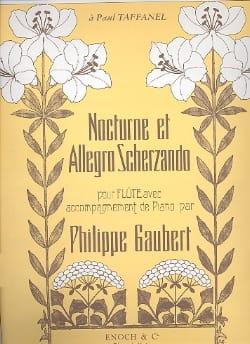Nocturne et Allegro Scherzando Philippe Gaubert laflutedepan