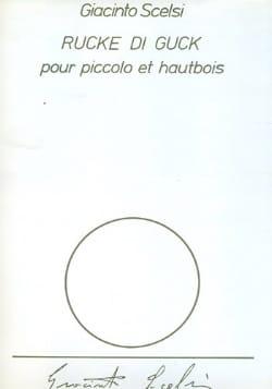 Rucke di Gluck Giacinto Scelsi Partition Duos - laflutedepan