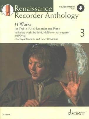 Renaissance Recorder Anthology 3 Partition Flûte à bec - laflutedepan