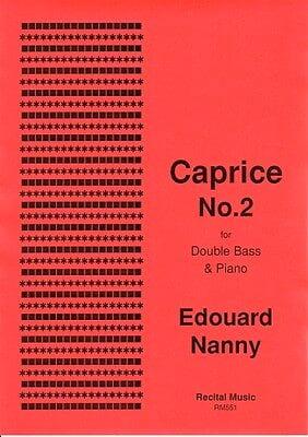 Caprice No.2 Edouard Nanny Partition Contrebasse - laflutedepan