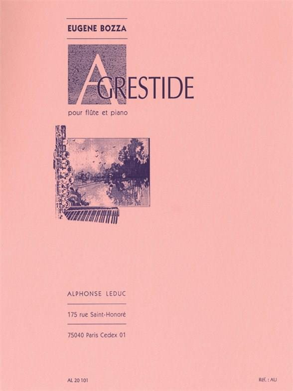 Agrestide - Eugène Bozza - Partition - laflutedepan.com