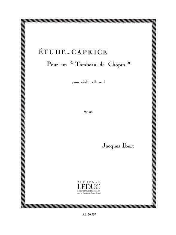 Etude-Caprice - IBERT - Partition - Violoncelle - laflutedepan.com