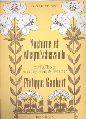 Nocturne et Allegro Scherzando - Philippe Gaubert - laflutedepan.com