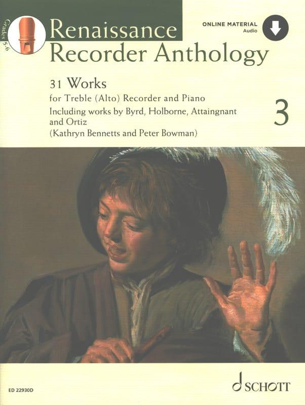 Renaissance Recorder Anthology 3 - Partition - laflutedepan.com