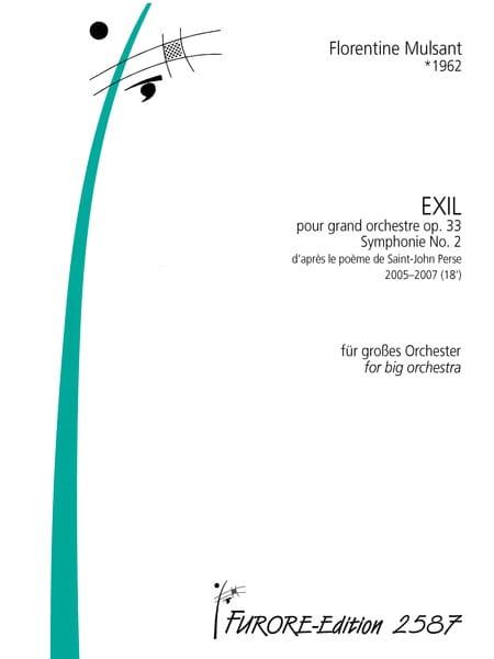 Exil, opus 33 - Florentine Mulsant - Partition - laflutedepan.com