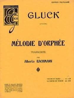 Melodie d'Orphée GLUCK Partition Violon - laflutedepan