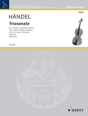 Triosonate E-Dur, op. 2 Nr. 9 -2 Violinen u. Bc HAENDEL laflutedepan