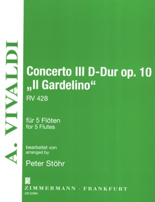 Concerto Op. 10 N° 3 en Ré Majeur Il Gardellino - Rv.428 laflutedepan
