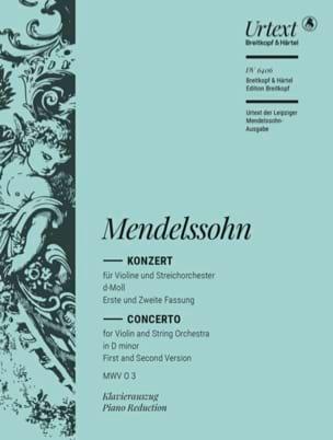 Violinkonzert d-moll MENDELSSOHN Partition Violon - laflutedepan