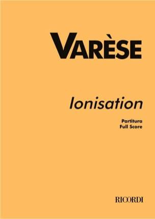 Ionisation -Partitur Edgard Varèse Partition laflutedepan