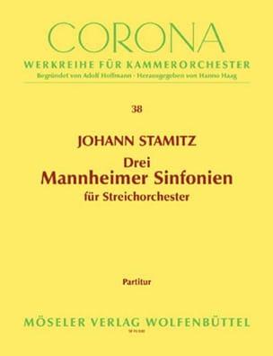 Drei Mannheimer Sinfonien - Partitur STAMITZ Partition laflutedepan