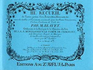 Recueil de Pièces Volume 3 Michel Blavet Partition laflutedepan