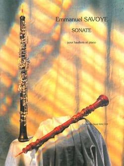 Sonate pour hautbois et piano Emmanuel Savoye Partition laflutedepan