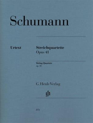 3 Quatuors à Cordes, opus 41 - Parties SCHUMANN Partition laflutedepan