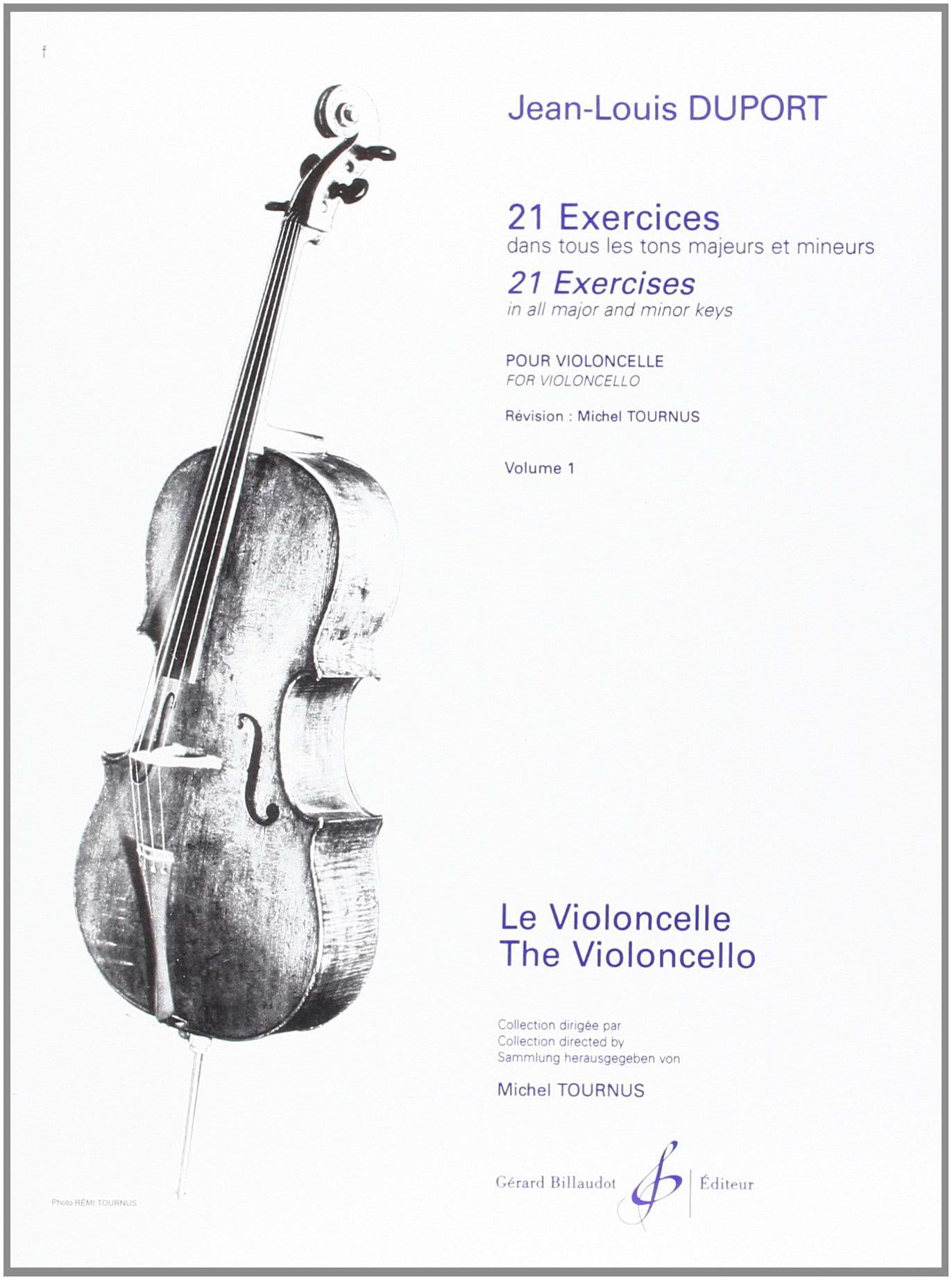 21 Exercices pour violoncelle - Volume 1 - laflutedepan.com