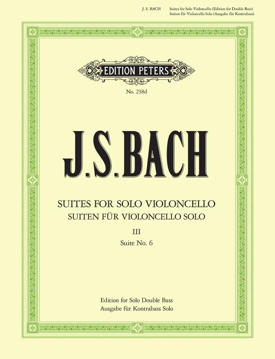Suite N° 6 pour Violoncelle Seul transcrite pour Contrebasse - laflutedepan.com