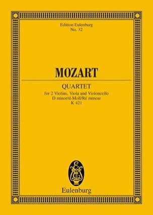 Streichquartett D-Moll Kv 421 - Conducteur MOZART laflutedepan
