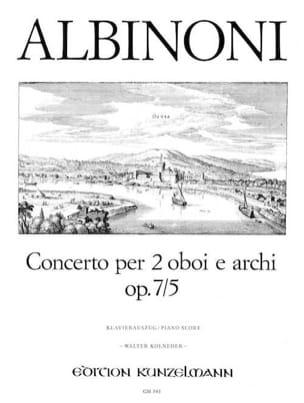 Concerto Op. 7 N° 5 ALBINONI Partition Trios - laflutedepan
