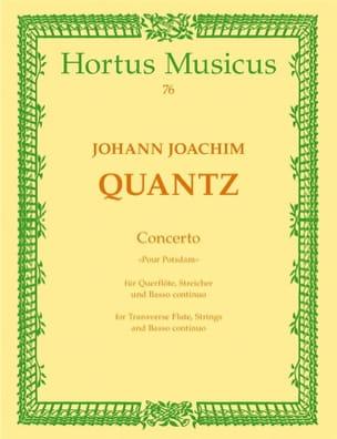 Concerto Pour Potsdam - Partitur QUANTZ Partition laflutedepan