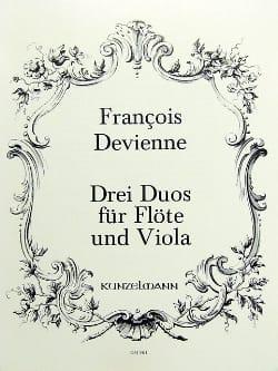 François Devienne - 3 Duos, Opus 5 - Flute and Viola - Partition - di-arezzo.com