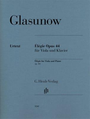 Elégie, opus 44 - Alto et piano Alexandre Glazounov laflutedepan