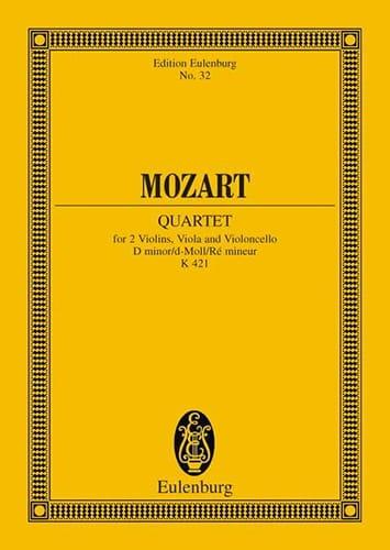 Streichquartett D-Moll Kv 421 - Conducteur - MOZART - laflutedepan.com