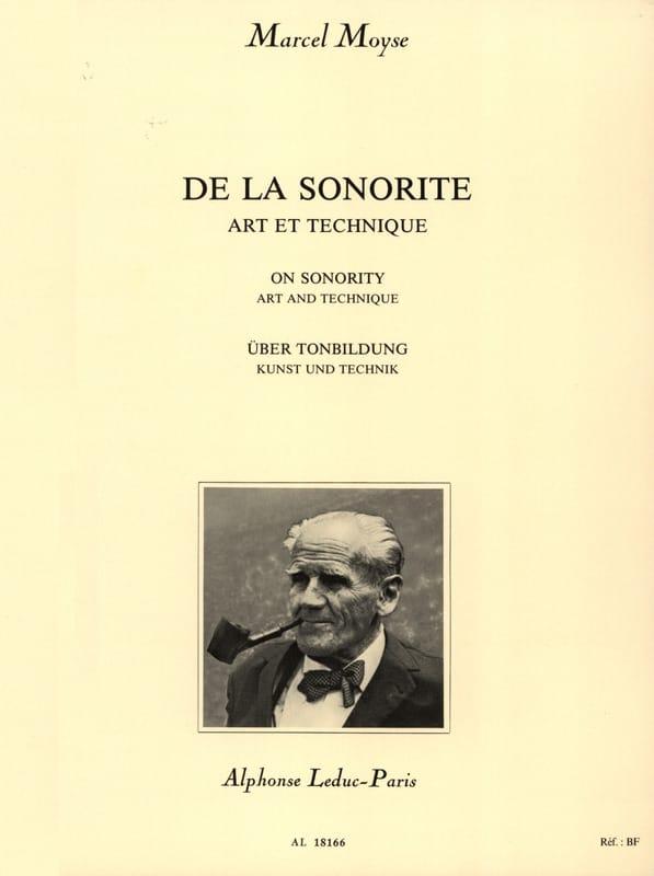 De la Sonorité - Marcel Moyse - Partition - laflutedepan.com