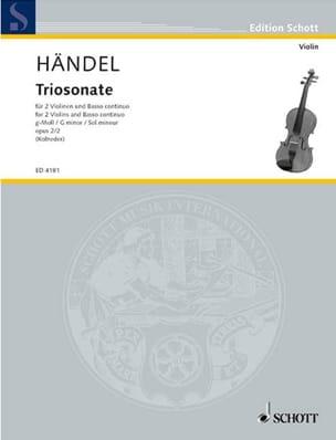 Triosonate g-moll op. 2 Nr. 2 -Stimmen HAENDEL Partition laflutedepan