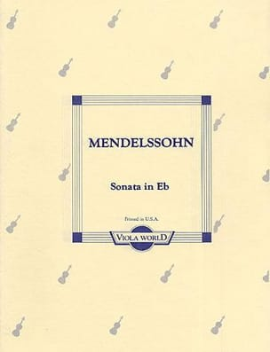 Sonata in E flat - Viola MENDELSSOHN Partition Alto - laflutedepan