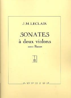 Sonates à 2 violons sans basse op. 12 LECLAIR Partition laflutedepan